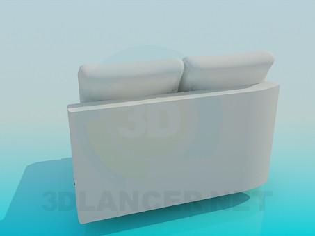 modelo 3D Parte del sofá - escuchar