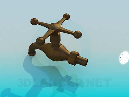 3d model Copper crane - preview