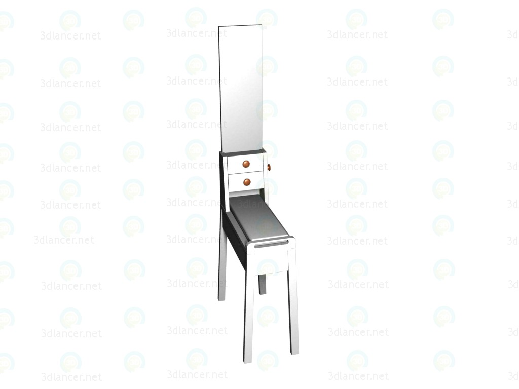 3d modeling Dressing table model free download