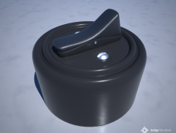 Выключатель круглый,внешний, однокнопочный (старого образца)
