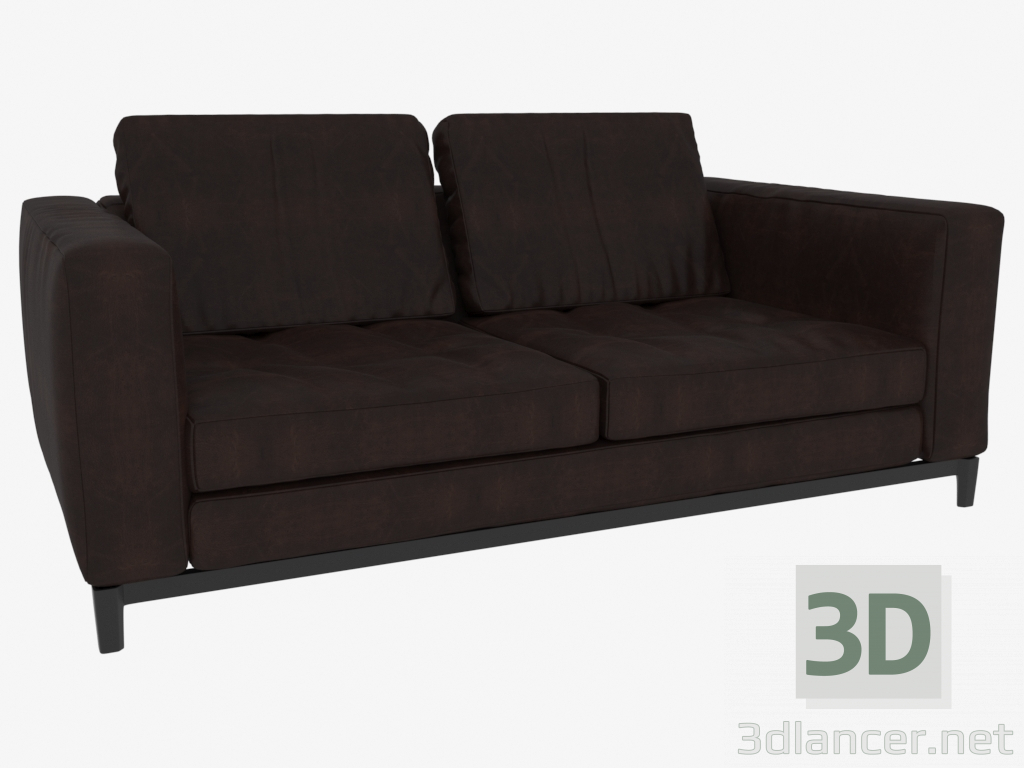 3d model Sofa double leather Andersen (178 x 82 x 103) - preview