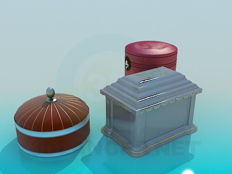 3d model Chests for jewelry - preview