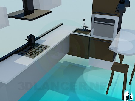 3d model Kitchen-style minimalism - preview