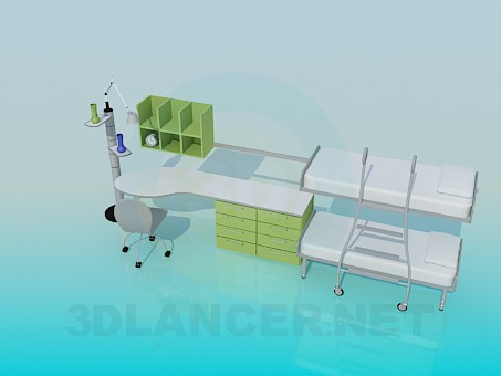 3d modeling Furniture for children's bedrooms model free download