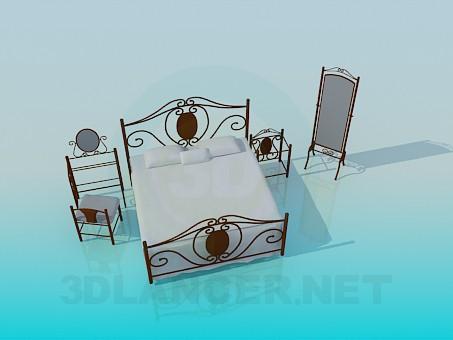 3d модель Комплект мебели в спальню – превью