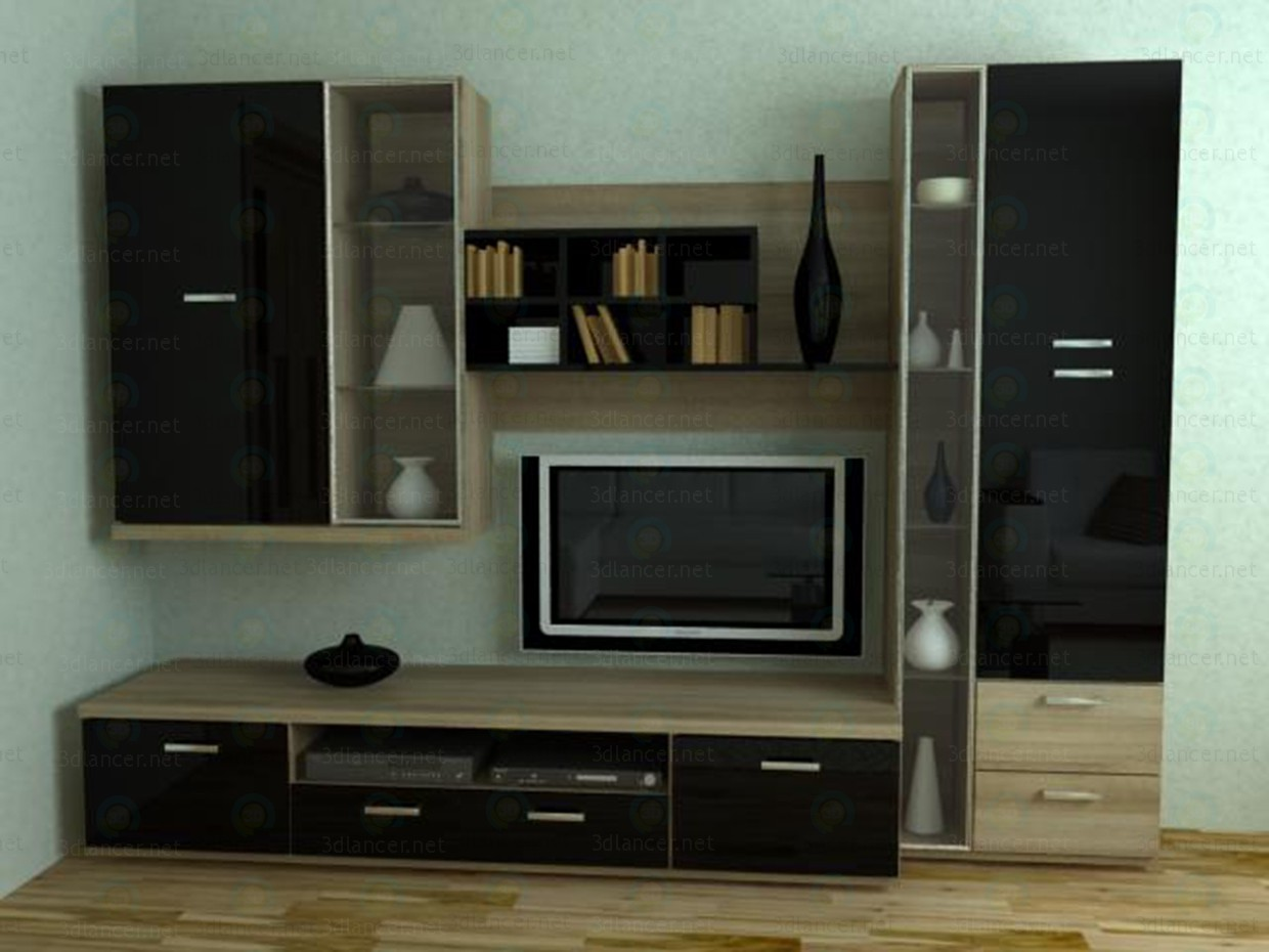 3d model Furniture wall Xetra - preview