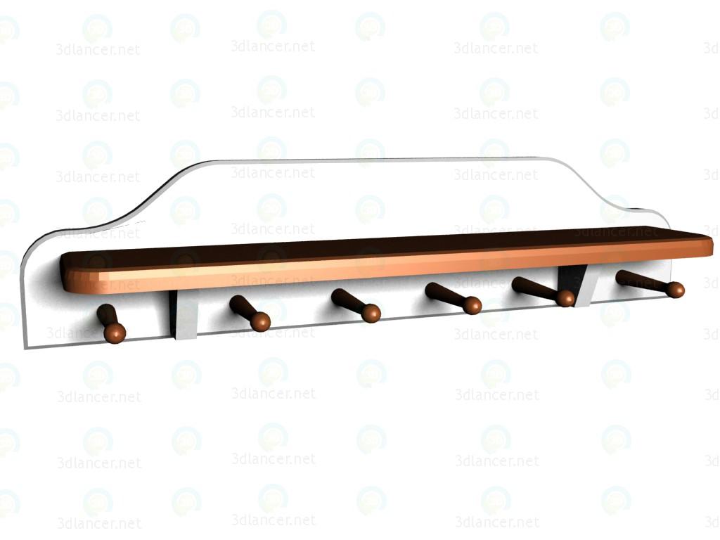 modelo 3D Estante con perchas VOX - escuchar