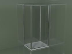 Box doccia angolare ZN + ZG 100 con porta scorrevole