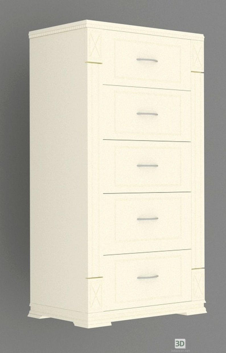 3d model Small chest of drawers - preview