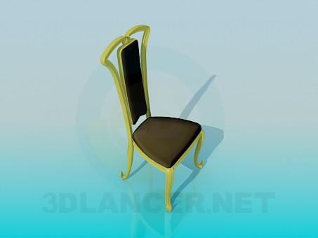3d модель Мягкий стул в классической исполнении – превью