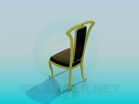 3d model Soft chair in classical implementation - preview