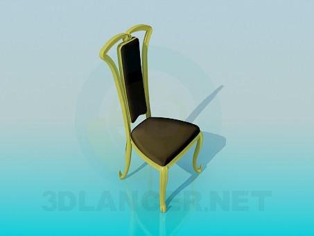 modelo 3D Silla suave en ejecución clásica - escuchar