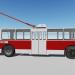 3d Trolleybus ZIU-682B model buy - render