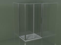 Box doccia angolare ZN + ZG 110 con porta scorrevole