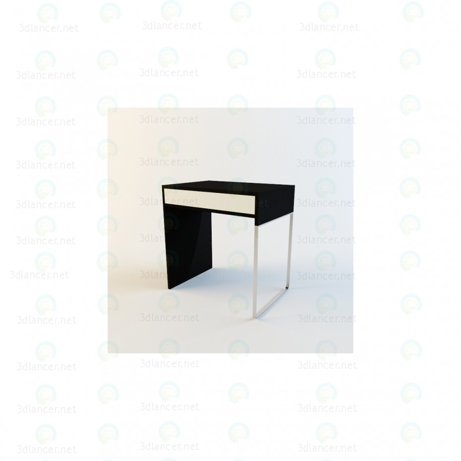 modelo 3D Escritorio Micke de IKEA pequeña - escuchar