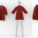3d Women's Quilted Jacket model buy - render