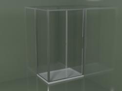 Box doccia angolare ZN + ZG 120 con porta scorrevole
