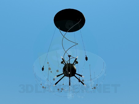 3d model Chandelier with glass dome - preview