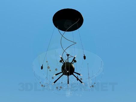 3d модель Люстра зі скляним куполом – превью