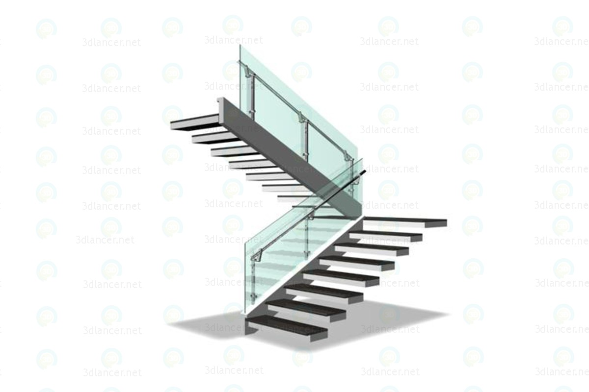 3d modeling Stairs model free download