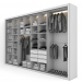 3d Wardrobe model buy - render