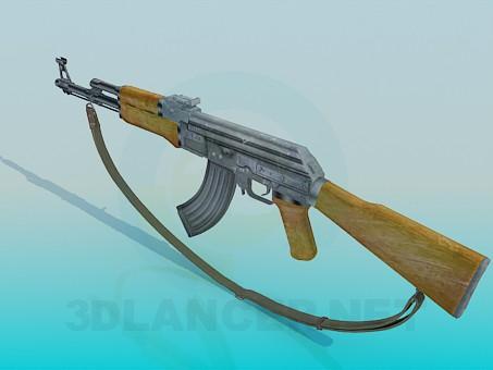 3d model AK - preview