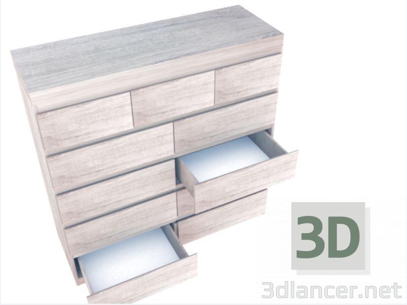 3d Commode model buy - render