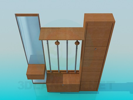3d model Furniture set for anteroom - preview