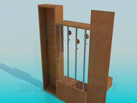 3d модель Мебельный гарнитур для прихожей – превью