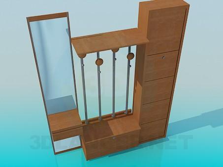 3d model Furniture set for anteroom - preview
