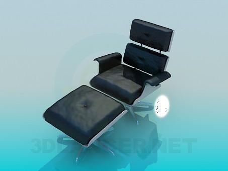 modelo 3D Conjunto de silla y otomano - escuchar