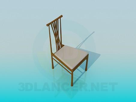 3d модель Стілець з палітуркою – превью