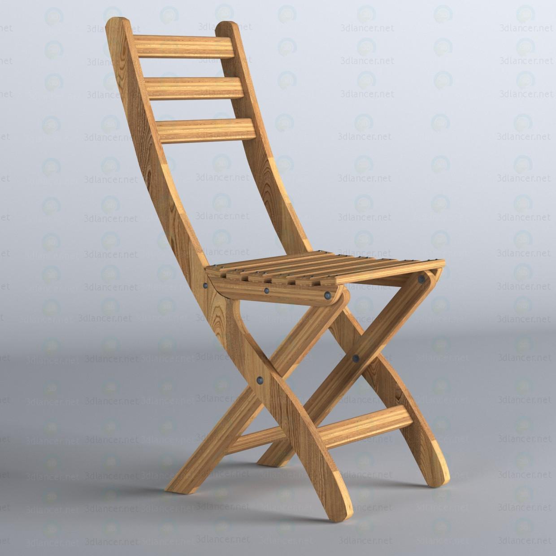 3d модель Садовий стілець АСКХОЛЬМЕН IKEA – превью