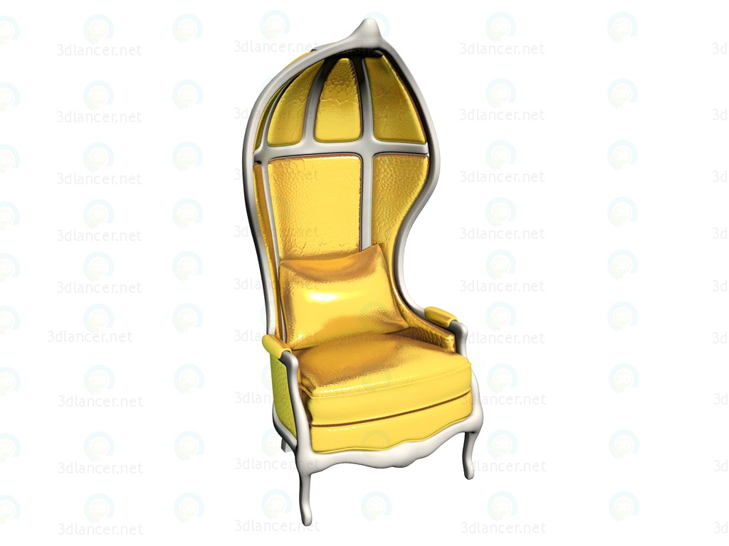 3d model Armchair Roof gold - preview