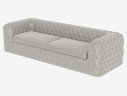 Sofa with combined upholstery CHELSEA (3000)