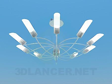 modelo 3D Lámpara Chandelier con pinturas en el techo en forma de tubos - escuchar