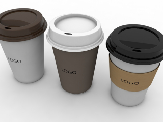 Coffee Cup (3 different styles Cups & Caps)
