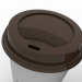 3D Kahve Fincanı (3 farklı stil Kupa ve Kapaklar) modeli satın - render