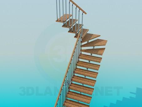 modelo 3D Escaleras de la esquina - escuchar