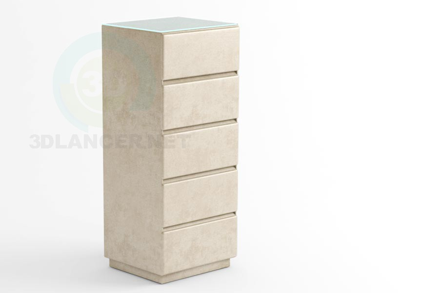 3d model Seville-5 drawers - preview