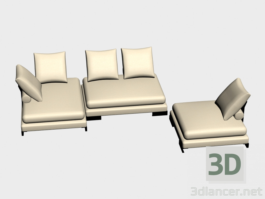 3d model sofa modular site i version manufacturer albert 3d model sites