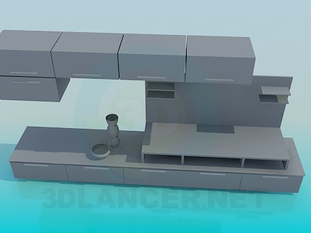 descarga gratuita de 3D modelado modelo Gabinete en la sala de estar