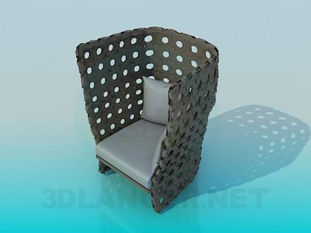 3d модель Крісло з подушками – превью