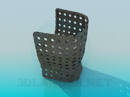 modelo 3D Sillón con almohadones - escuchar