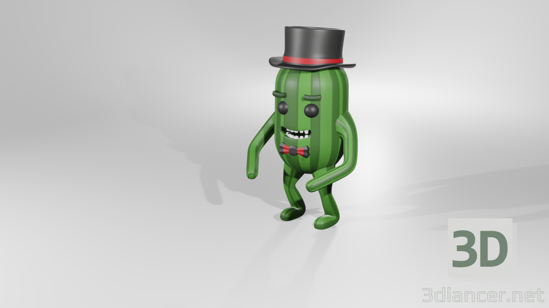 3d model cucumber - preview