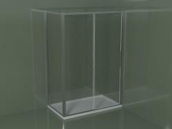 Box doccia angolare ZN + ZG 140 con porta scorrevole