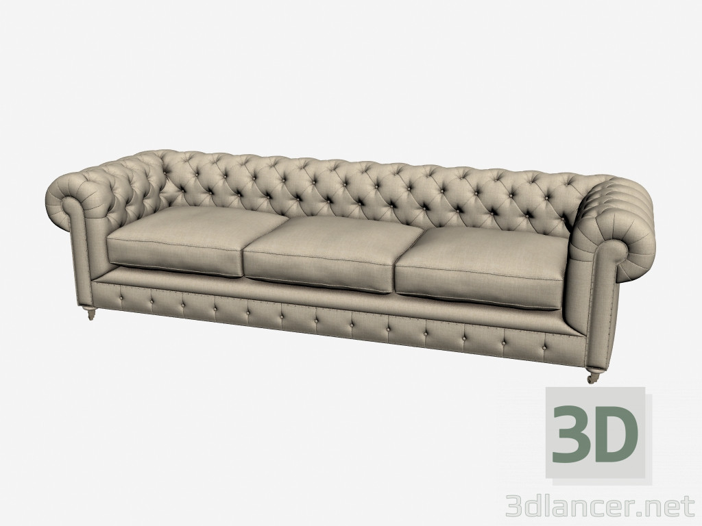 3d Model Sofa Old Chester 101 005 Xxl F01 Manufacturer Gramercy