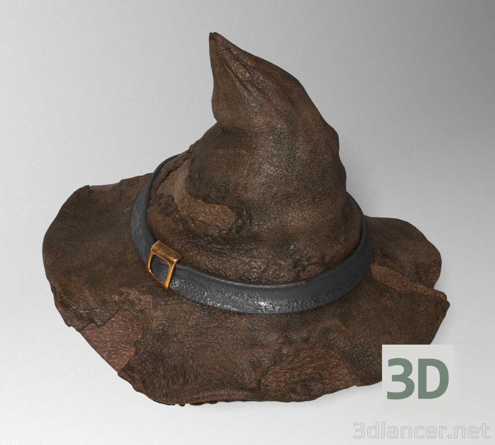 3d model Old Leather Hat - preview