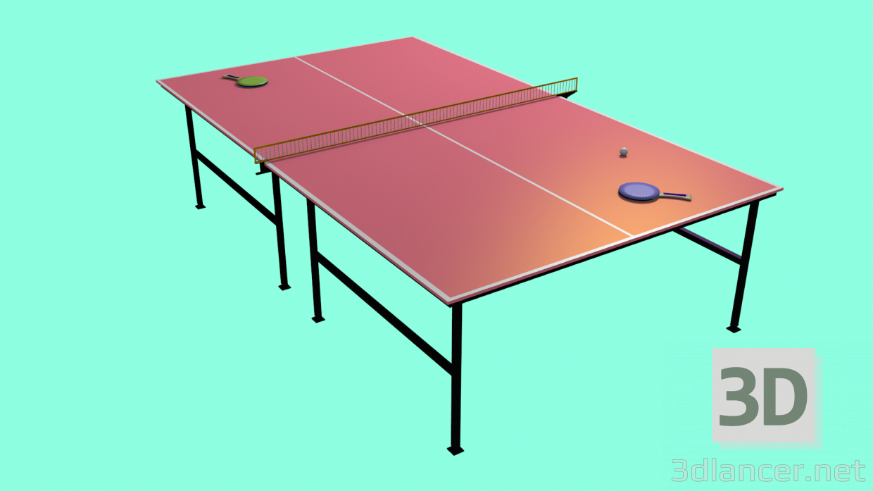 3d model Tennis table - preview
