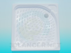 Shower tray with texture
